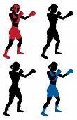 stock photo of boxers  - An illustration of a female boxer or boxercise woman boxing or working out - JPG