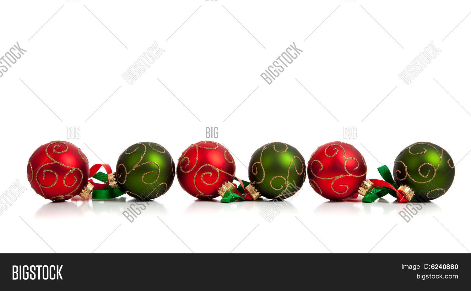 Red green christmas ornaments image photo bigstock for Red and green christmas decorations