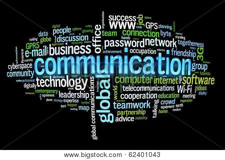 communication concept image word cloud