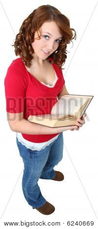 Beautiful Teen With Book