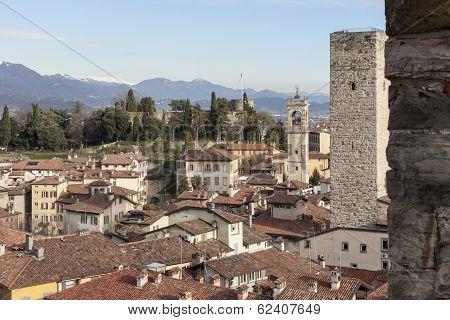 The medieval town of Bergamo