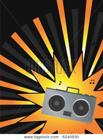 Boom Box Music Ray Background