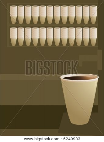 Coffee Cup In Coffee Shop Scene