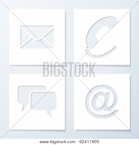 Paper Support Banners. Vector Illustration