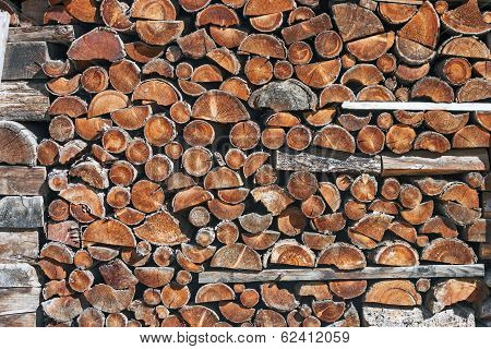 Piled up firewood