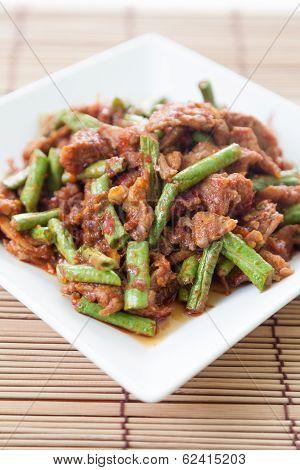 Thai Food,pork Fried Lentils
