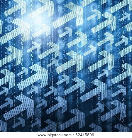 Arrows and binary code