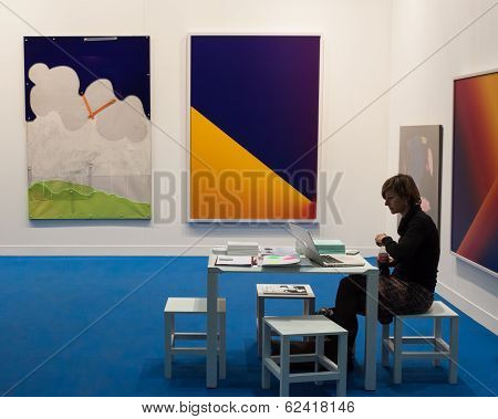Exhibitor At Miart 2014 In Milan, Italy
