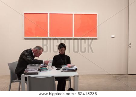 Exhibitors At Miart 2014 In Milan, Italy