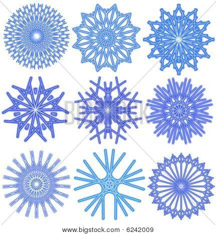 Snowflakes Snow.