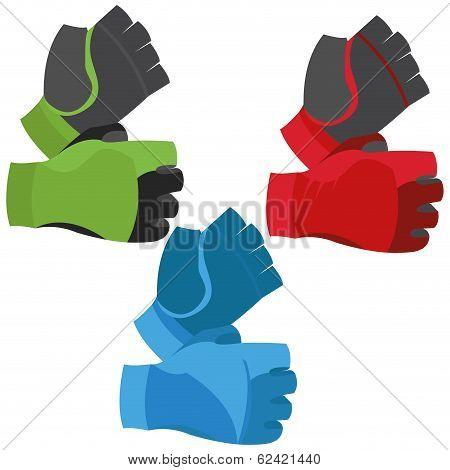 Vector Fingerless Gloves Illustration Isolated On White Background
