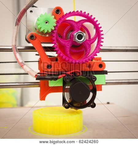 3D Printer At Robot And Makers Show
