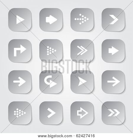 Arrow set collection web buttons