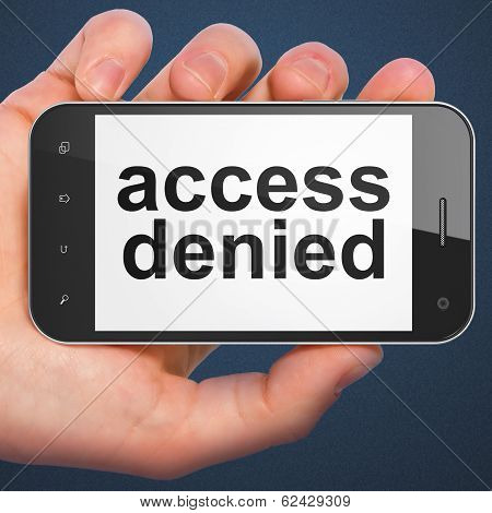Security concept: Access Denied on smartphone