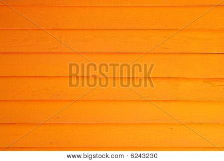 Orange Plank Wall