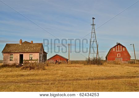 Buildings of a deserted farmstead