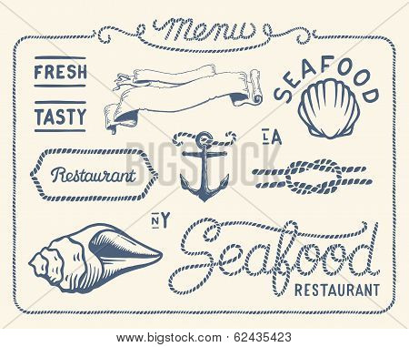 Vintage seafood restaurant collection