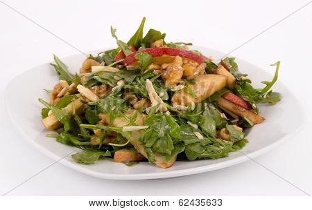healthy nut and apple salad