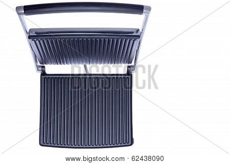 Open Panini Press Showing The Cast Iron Plates