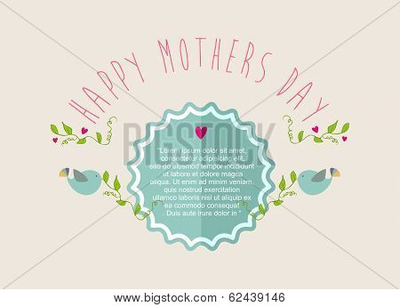 Vintage Happy Mothers Day Greeting Card