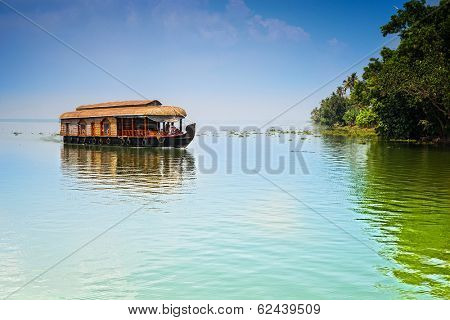 Traditional Inian house boat .Kerala