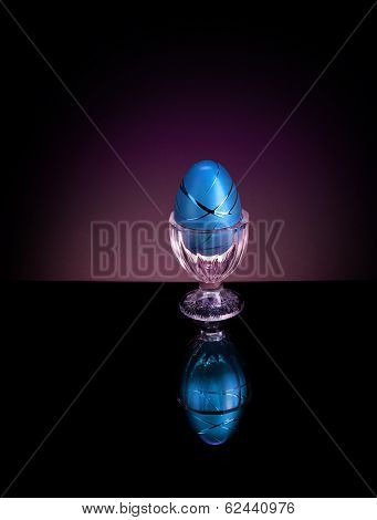 Decorative Easter Egg in cup - Elegant
