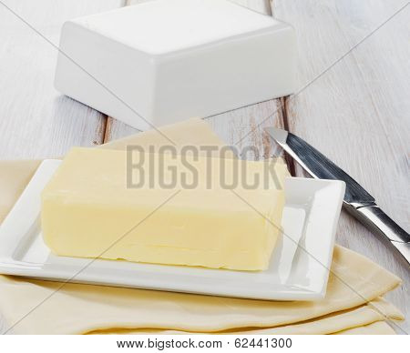 Plate With Butter
