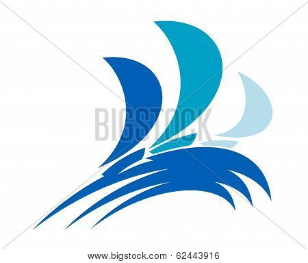 Yacht regatta symbol