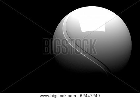 3D Tennis Ball Isolated