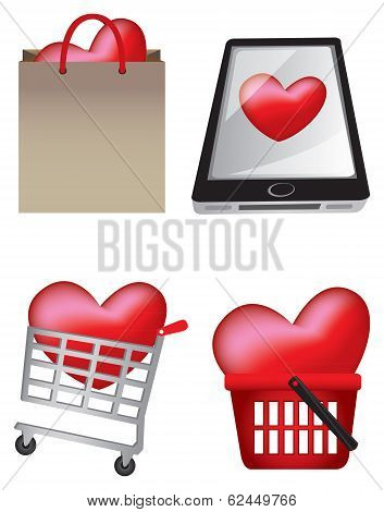 Creative Heart Icons Iliustration