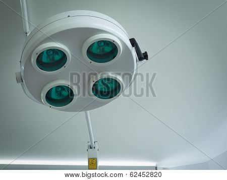 Surgical Light Or Medical Lamp In Operation Room For Surgery