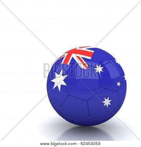 Australia Soccer Ball Isolated White Background