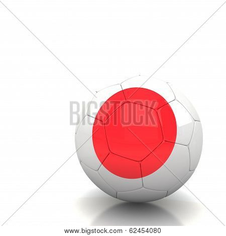 Japan Soccer Ball Isolated White Background