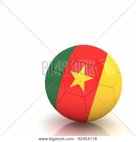 Cameroon Soccer Ball Isolated White Background