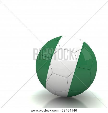 Nigeria Soccer Ball Isolated White Background