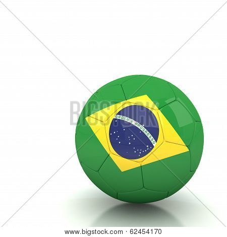 Brazil Soccer Ball Isolated White Background