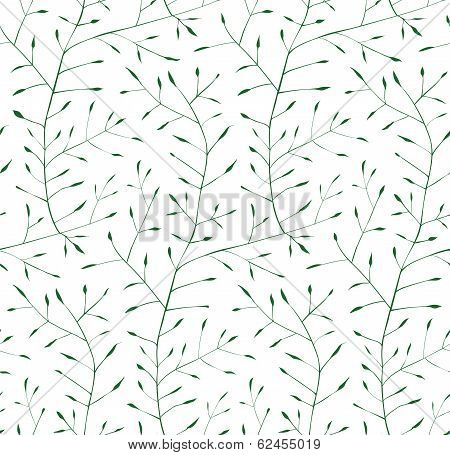 Fine Floral Ornament Seamless Pattern Background