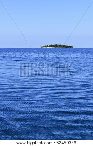 Small Island In The Adriatic Sea