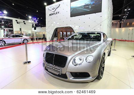 Nonthaburi - March 25: Bentley Continental Gt V8 Convertible Car On Display At The 35Th Bangkok Inte
