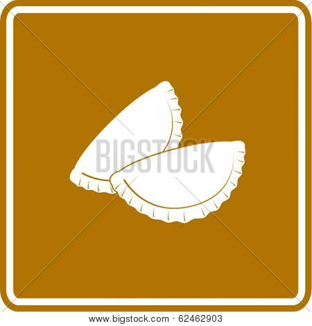 empanada, cheburek or calzone symbol