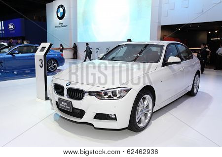 Nonthaburi - March 25: Bmw 325D M Sport Car On Display At The 35Th Bangkok International Motor Show