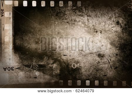 Film negative filmstrip grunge background