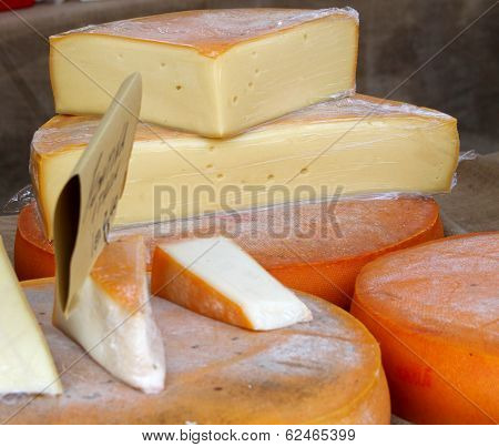 Excellent Cheese On Sale From Milkman Into A Village Fair
