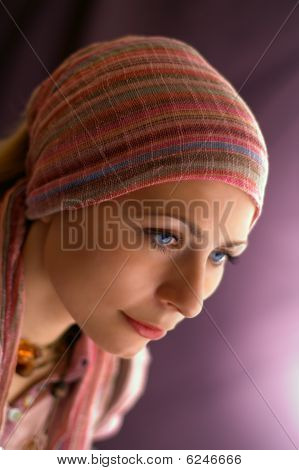Women With Scarf On The Head