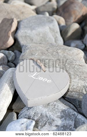 Inscribed Love Heart On The Rocks