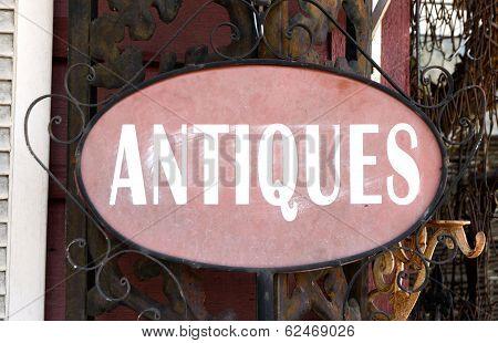 Antiques Sign Landscape