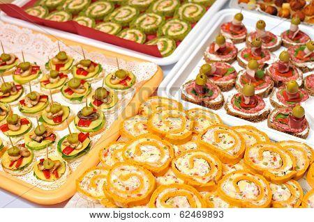 Plate of many mini size sandwich