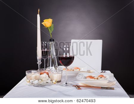 Portrait Of Oriented Food On Decorated Table