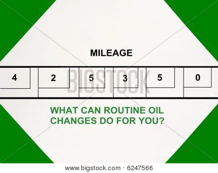 Oil Change Service Shop Advertisement Sign