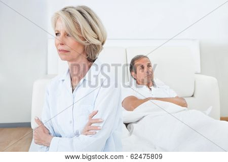 Mature Couple In Quarrel At Home